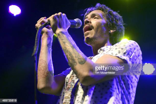Brandon Boyd of Brandon Boyd Sons of the Sea performs at The Fillmore on February 15 2014 in San Francisco California