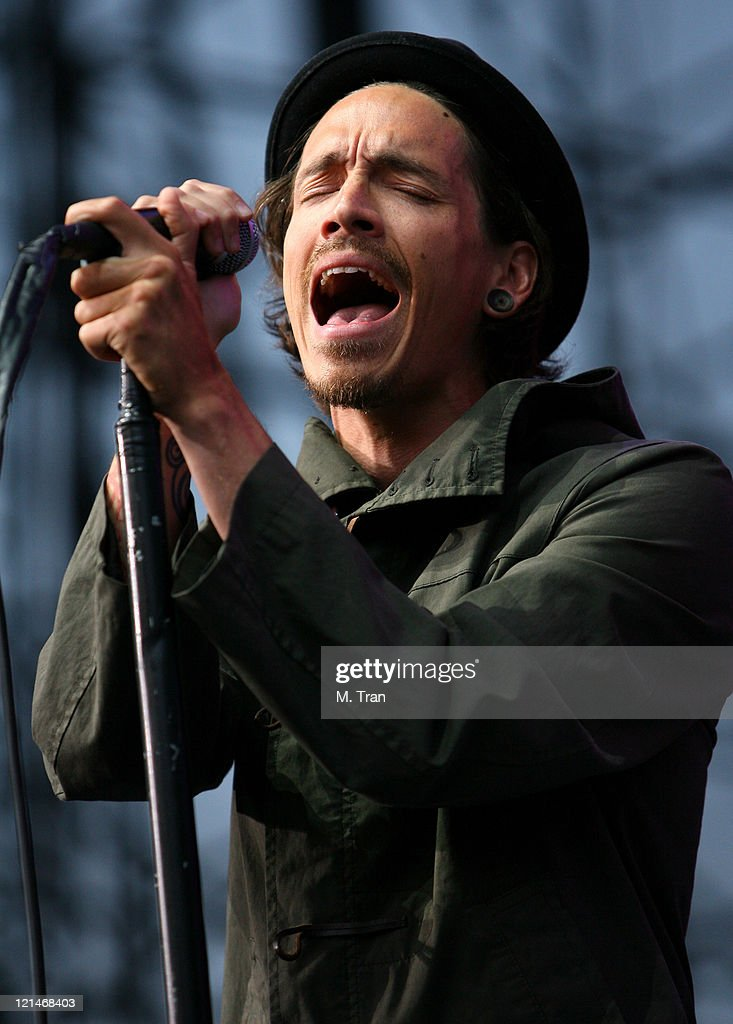 Brandon Boyd of Incubus during KROQ Weenie Roast Y Fiesta 2007 - Show at Verizon Amphitheater in Irvine, California, United States.