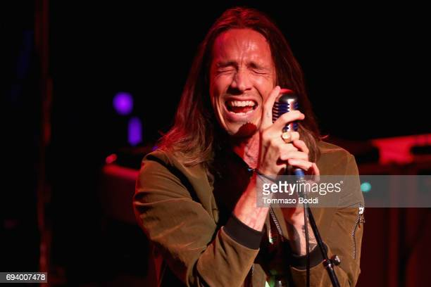 Brandon Boyd of Incubus performs on stage during the Los Angeles Chapter GRAMMY Showcase at The Fonda Theatre on June 8 2017 in Los Angeles California