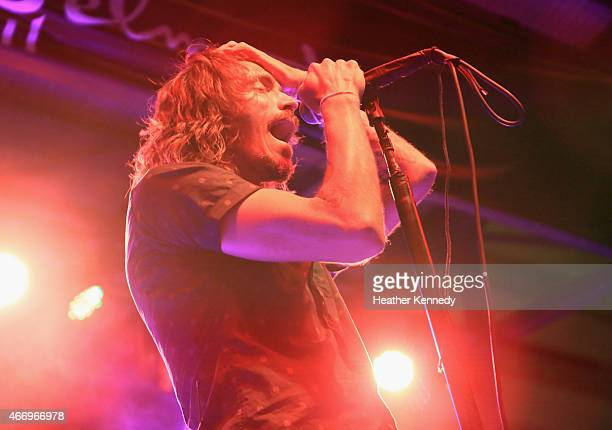 Brandon Boyd of Incubus performs onstage at the Island Records showcase during the 2015 SXSW Music Film Interactive Festival at The Belmont on March...