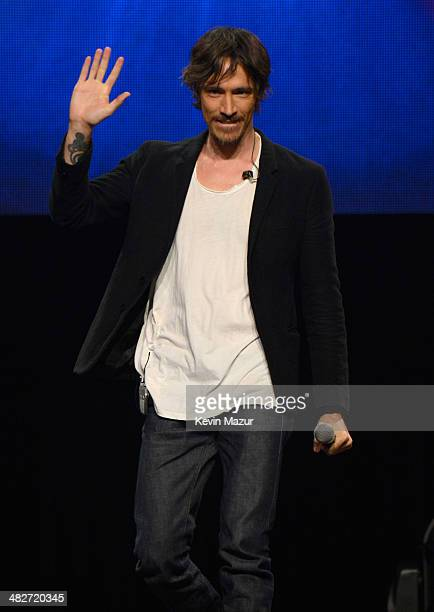 Brandon Boyd onstage during the press conference for Jesus Christ Superstar Arena Rock Spectacular at Hammerstein Ballroom on April 4 2014 in New...