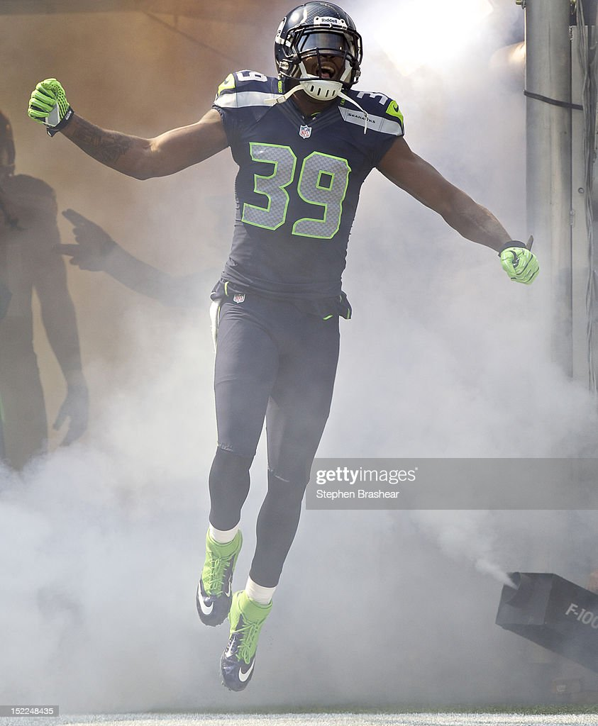 <a gi-track='captionPersonalityLinkClicked' href=/galleries/search?phrase=Brandon+Browner&family=editorial&specificpeople=749482 ng-click='$event.stopPropagation()'>Brandon Browner</a> #39 takes the field before a game against the Dallas Cowboys at CenturyLink Field on September 16, 2012 in Seattle, Washington. Seattle won the game 27-7.
