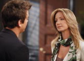 LIVE Brandon Buddy and Susan Haskell in a scene that airs the week of June 14 2010 on ABC Daytime's 'One Life to Live' 'One Life to Live' airs...