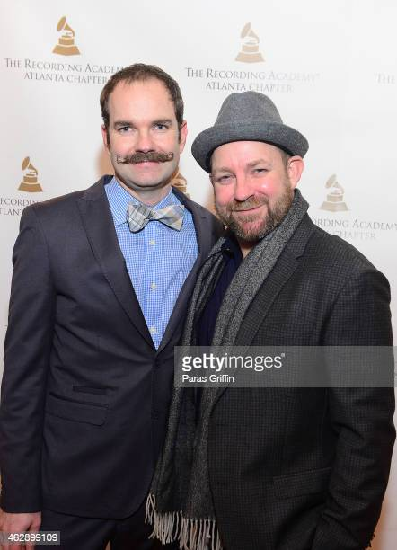 Brandon Bush and Kristian Bush of the band Sugarland attend the Recording Academy Atlanta Chapter Celebrates Georgia's 56th Annual Grammy Nominee...