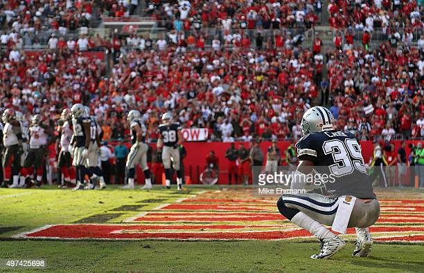 Brandon Carr of the Dallas Cowboys looks on during a game against the Tampa Bay Buccaneers at Raymond James Stadium on November 15 2015 in Tampa...