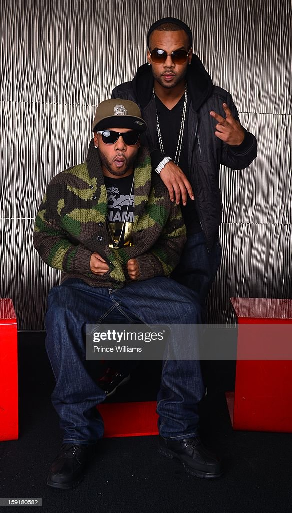 Brandon Casey and Brian Casey attend the birthday celebration of Mimi Faust at Halo Lounge on January 9, 2013 in Atlanta, Georgia.