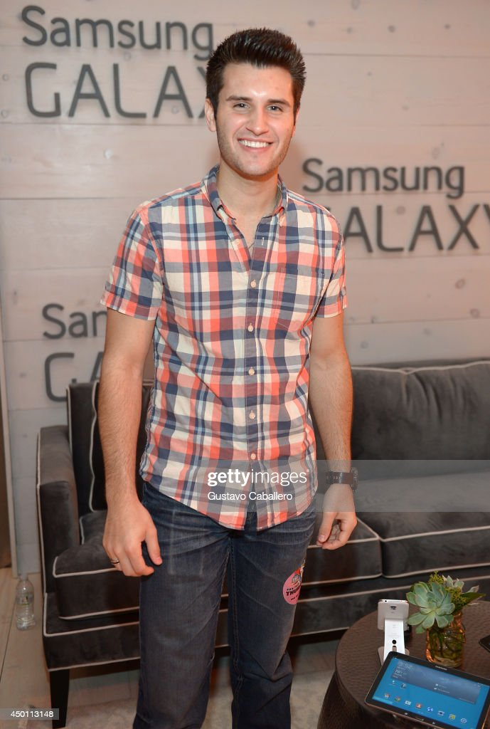 Brandon Chase at the Samsung Galaxy Artist Lounge at the 2014 CMA Music Festival on June 5 2014 in Nashville Tennessee