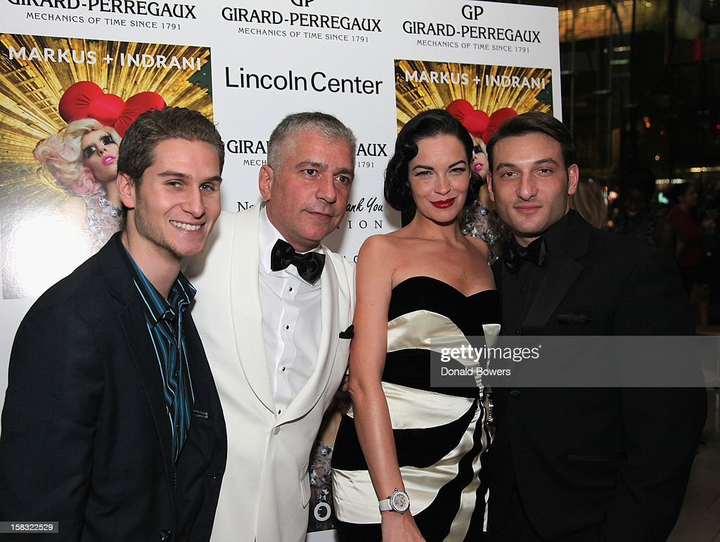 Brandon Cohen, Gus Michael Farinella, <a gi-track='captionPersonalityLinkClicked' href=/galleries/search?phrase=Tammy+Blanchard&family=editorial&specificpeople=2205106 ng-click='$event.stopPropagation()'>Tammy Blanchard</a> and Guest attend Markus + Indrani's 'ICONS' Launch Event and VIP Gala at Alice Tully Hall, Lincoln Center on December 11, 2012 in New York City.