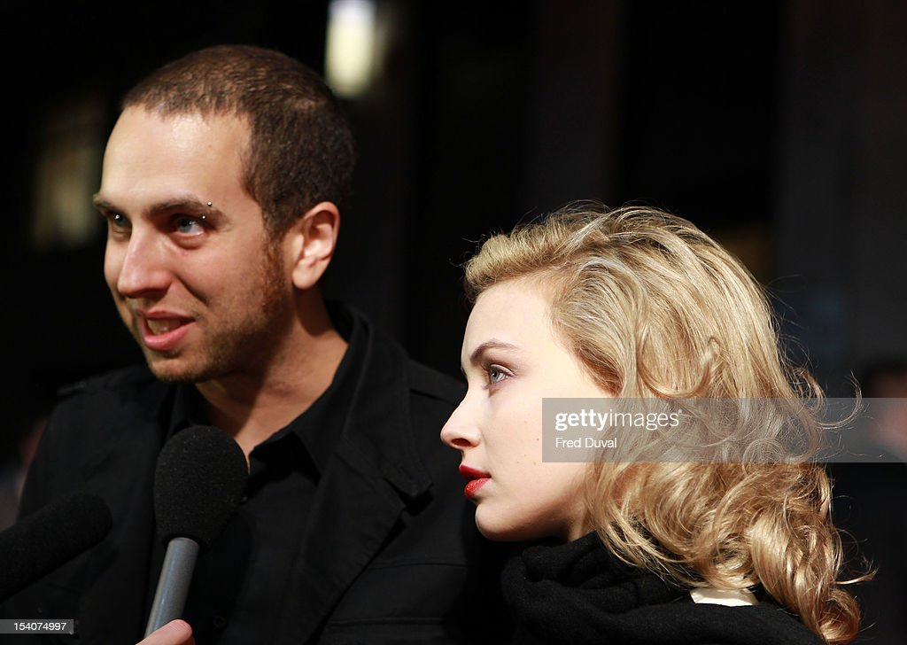 Brandon Cronenberg and <a gi-track='captionPersonalityLinkClicked' href=/galleries/search?phrase=Sarah+Gadon&family=editorial&specificpeople=6606524 ng-click='$event.stopPropagation()'>Sarah Gadon</a> attend the premiere of 'Antiviral' at the 56th London Film Festival at Odeon Leicester Square on October 13, 2012 in London, England.