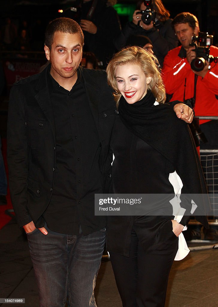 Brandon Cronenberg and <a gi-track='captionPersonalityLinkClicked' href=/galleries/search?phrase=Sarah+Gadon&family=editorial&specificpeople=6606524 ng-click='$event.stopPropagation()'>Sarah Gadon</a> attends the premiere of 'Antiviral' at the 56th London Film Festival at Odeon Leicester Square on October 13, 2012 in London, England.