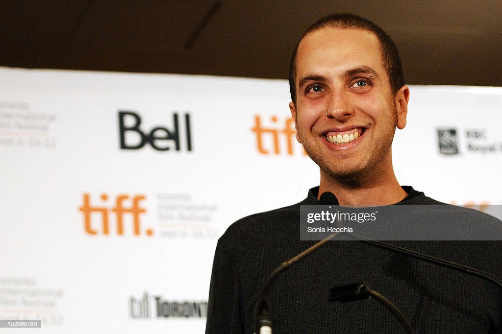 Brandon Cronenberg, winner of The SKYY Vodka Award for Best Canadian First Feature Film for 'Antiviral', speaks at the 37th Toronto International Film Festival Award Winner Ceremony held at the InterContinental Toronto Center Hotel on September 16, 2012 in Toronto, Canada.