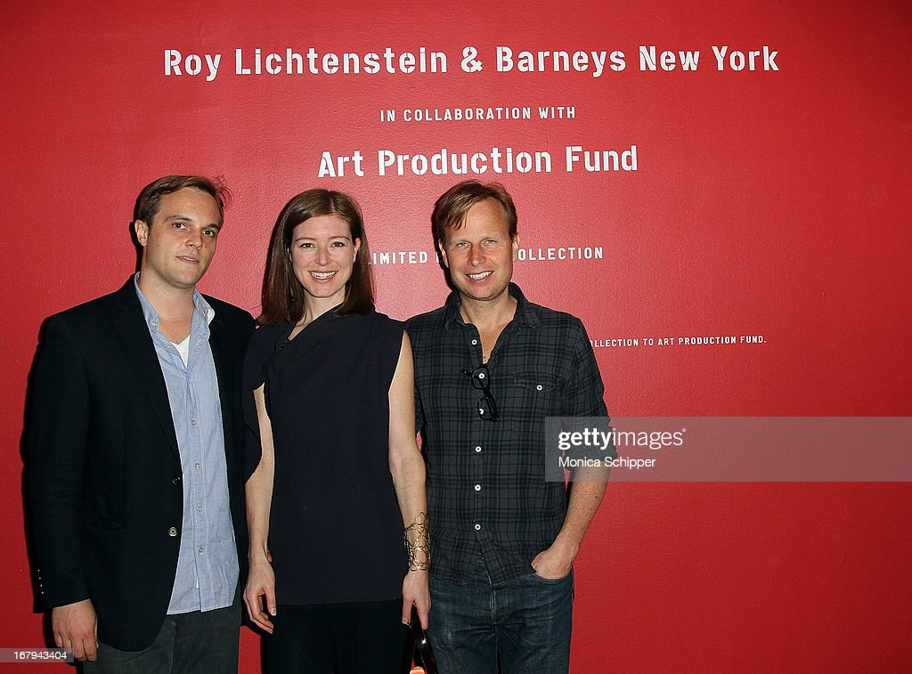 Brandon Crow, Rose Dergan and Will Cotton attend Roy Lichtenstein & Barneys New York Limited Edition Collection Launch Event at Barneys New York on May 2, 2013 in New York City.
