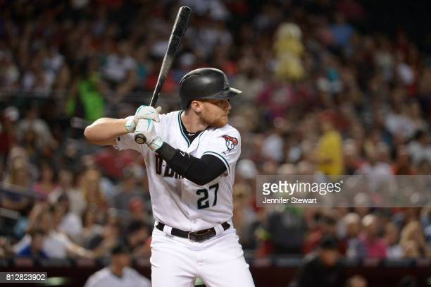 Brandon Drury of the Arizona Diamondbacks stands at bat during the game against the Philadelphia Phillies at Chase Field on June 23 2017 in Phoenix...