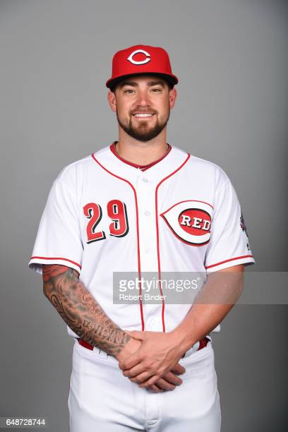 Brandon Finnegan of the Cincinnati Reds poses during Photo Day on Saturday February 18 2017 at Goodyear Ballpark in Goodyear Arizona