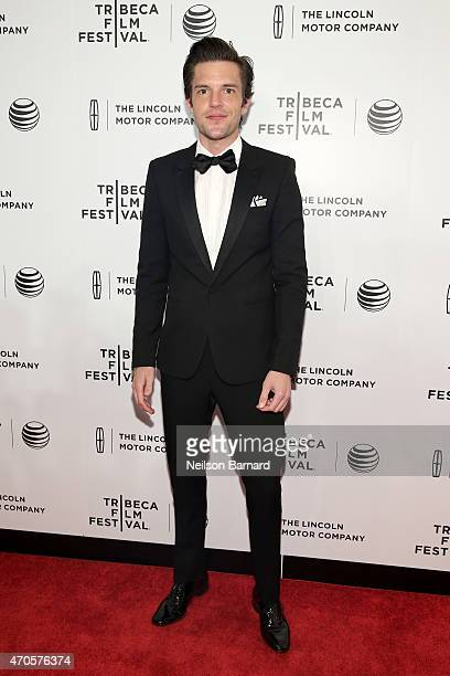 Brandon Flowers attends Sinatra at 100 Music and Film Lincoln Screening of 'On The Town' and performances during the 2015 Tribeca Film Festival at...