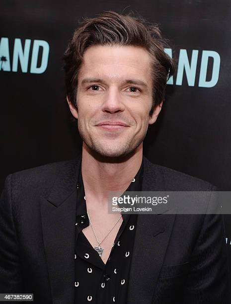 Brandon Flowers attends the Island Records Presents BRANDON FLOWERS Album Playback in NYC event at Gansevoort Park Avenue on March 23 2015 in New...