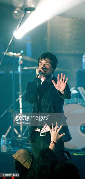 Brandon Flowers from the band The Killers during MTV2 $2 Bill Concert Series 14th September 2004 at The Roxy in Boston Massachusetts United States