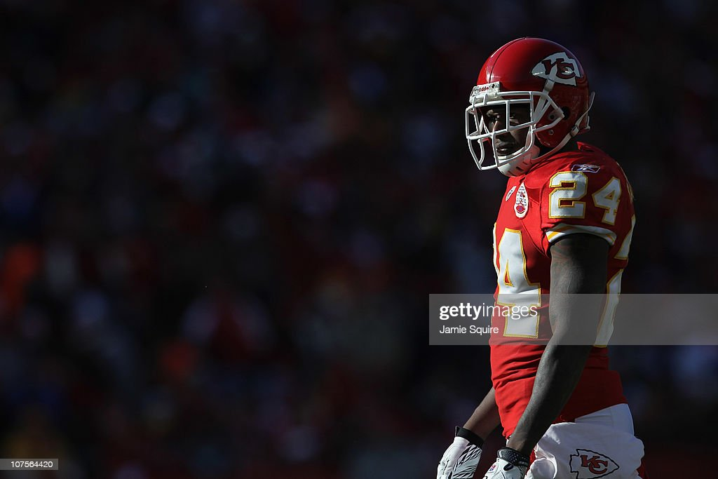 5cc494b2eb9 ... Brandon Flowers 24 of the Kansas City Chiefs in action during the game  against the Los Angeles Lakers Apparel ...