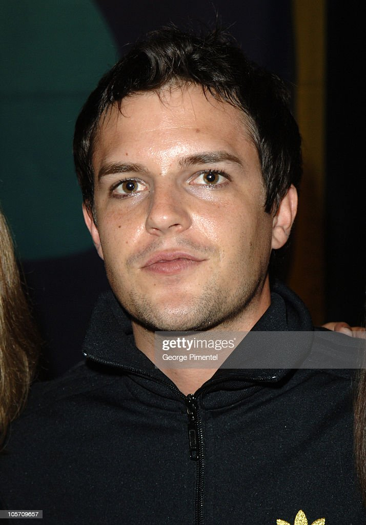 Brandon Flowers of <a gi-track='captionPersonalityLinkClicked' href=/galleries/search?phrase=The+Killers+-+Band&family=editorial&specificpeople=3954390 ng-click='$event.stopPropagation()'>The Killers</a> during 2005 MuchMusic Video Awards - Gift Bag Lounge Day 1 at CHUM CITY TV Building in Toronto, Ontario, Canada.