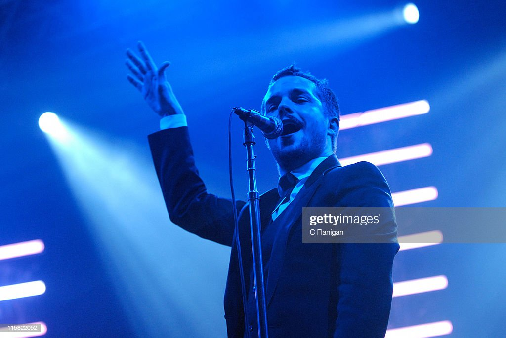 Brandon Flowers of <a gi-track='captionPersonalityLinkClicked' href=/galleries/search?phrase=The+Killers+-+Band&family=editorial&specificpeople=3954390 ng-click='$event.stopPropagation()'>The Killers</a> during Live 105's Not So Silent Night - December 8, 2006 at Bill Graham Civic Center in San Francisco, California, United States.