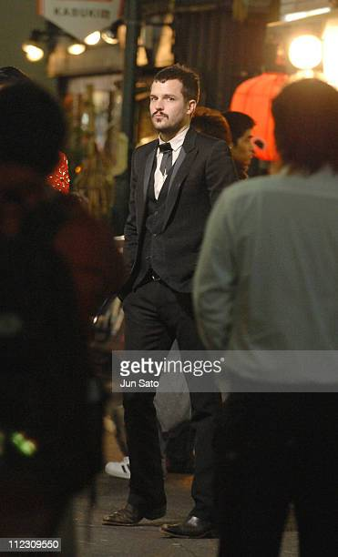 Brandon Flowers of The Killers during The Killers 'Read My Mind' Video Shoot January 10 2007 in Tokyo Japan