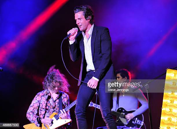 Brandon Flowers of The Killers performs at The Concert For UCSF Benioff Children's Hospitals at Pier 70 on September 17 2015 in San Francisco...