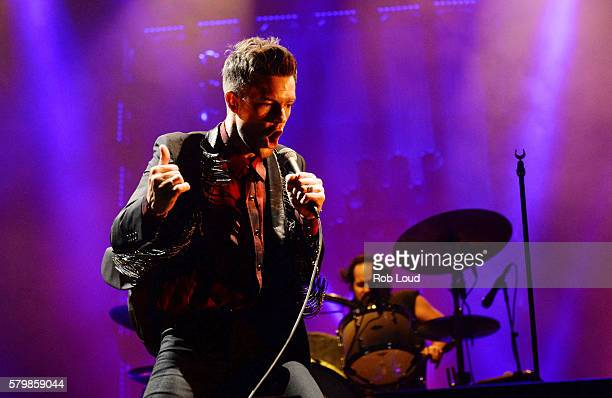 Brandon Flowers of The Killers performs at the Way Home Music Festival on July 24 2016 in OroMedonte Ontario