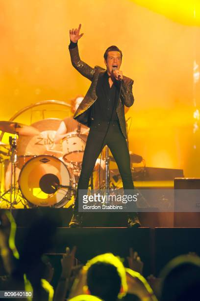 Brandon Flowers of The Killers performs live at Exit Festival 2017 on July 5 2017 in Novi Sad Serbia