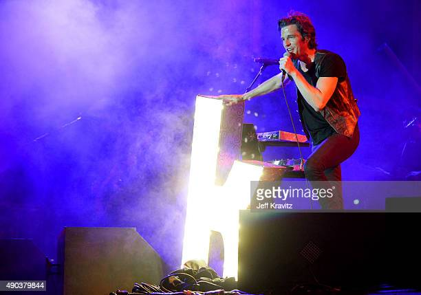 Brandon Flowers of The Killers performs onstage during day 3 of the 2015 Life is Beautiful festival on September 27 2015 in Las Vegas Nevada
