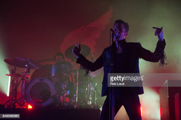 Brandon Flowers or The Killers performs live on stage at Brixton Academy on September 12 2017 in London England