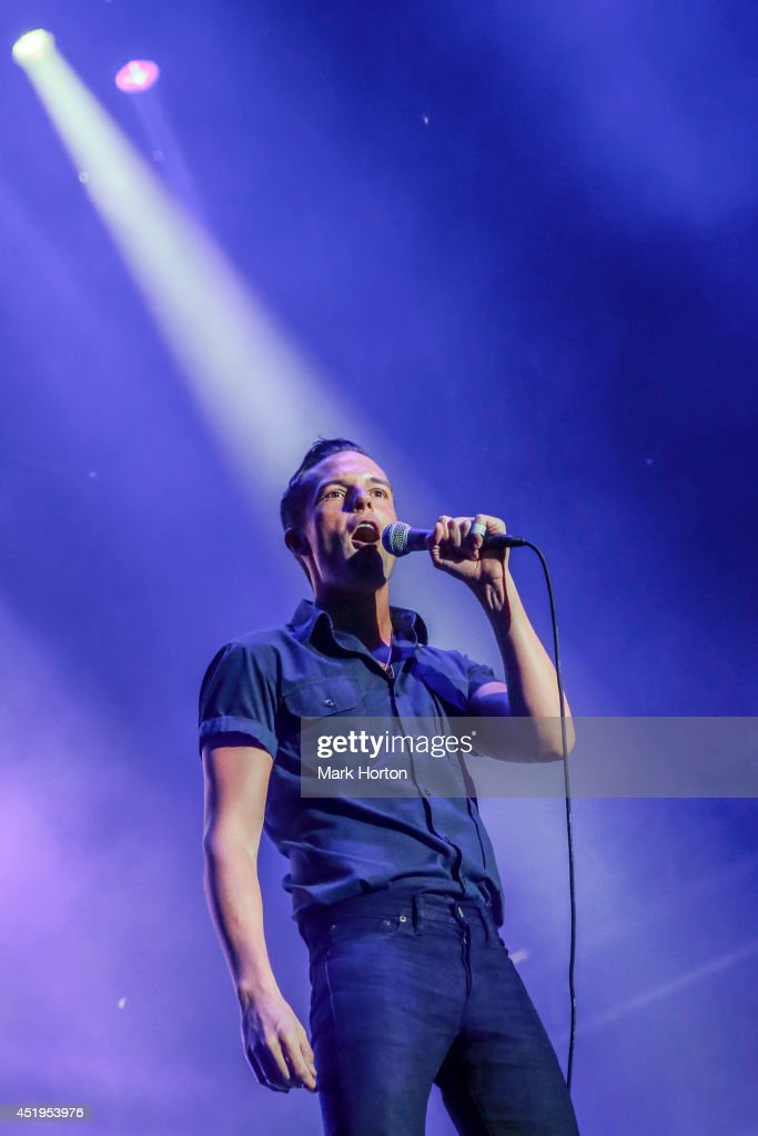 Brandon Flowers performs with The Killers on Day 6 of the RBC Royal Bank Bluesfest on July 9, 2014 in Ottawa, Canada.