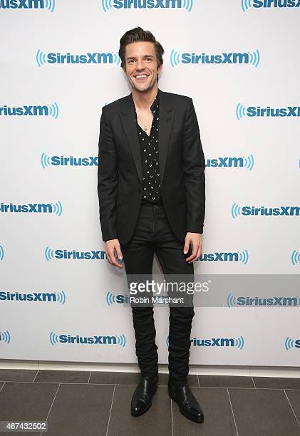 Brandon Flowers visits SiriusXM's Alt Nation channel at SiriusXM Studios on March 24 2015 in New York City