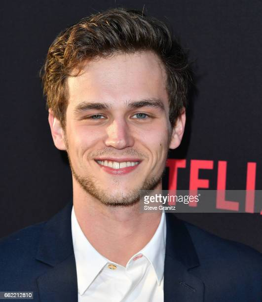 Brandon Flynn arrives at the Premiere Of Netflix's '13 Reasons Why' at Paramount Pictures on March 30 2017 in Los Angeles California