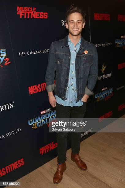 Brandon Flynn attends The Cinema Society with Men's Fitness Muscle Fitness and Remy Martin host a screening of Marvel Studios' 'Guardians of the...