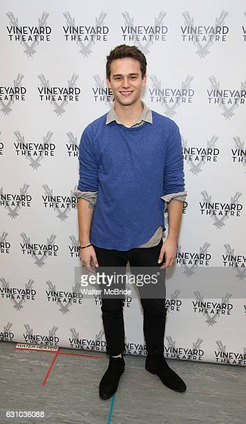 Brandon Flynn attends the photocall for the Vineyard Theatre production of 'Kid Victory' at Ripley Grier on January 5 2017 in New York City