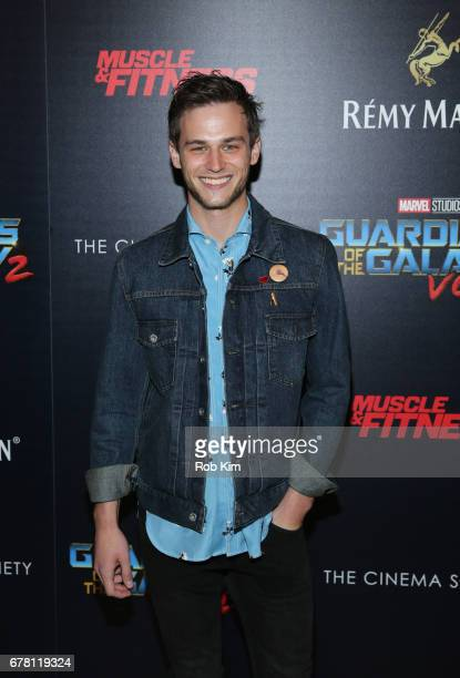 Brandon Flynn attends the screening of 'Guardians of the Galaxy Vol 2' presented by Remy Martin at The Whitby Hotel on May 3 2017 in New York City