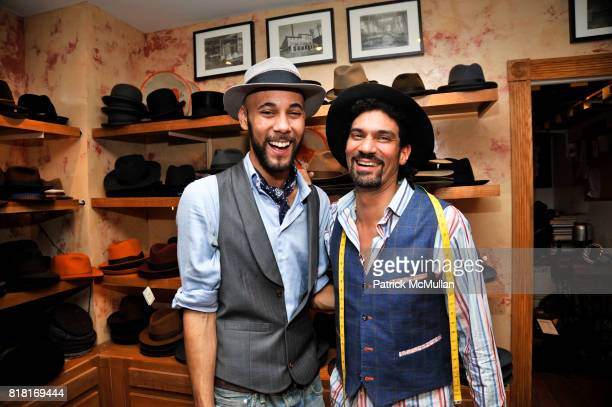 Brandon Franklin and Orlando Palacios attend BELLE PLAGE CLOTHING Holiday Party Spring 2011 Preview at Worth Worth on November 30 2010 in New York...