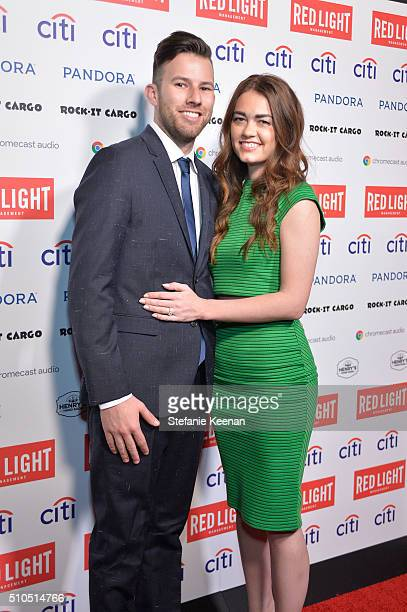 Brandon Ginsberg and Jessie Ligo attend Red Light Management 2016 Grammy After Party presented by Citi at Mondrian Hotel on February 15 2016 in Los...