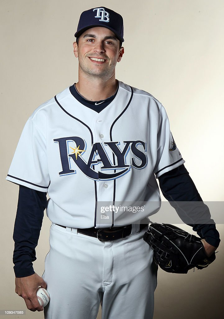 Brandon Gomes of the Tampa Bay Rays poses for a portrait during the Tampa Bay Rays Photo Day on February 22 2011 at the Charlotte Sports Complex in...