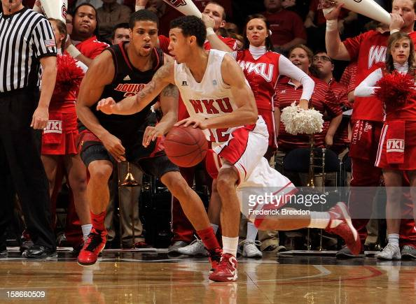Brandon Harris of the Western Kentucky Hilltoppers plays against the Louisville Cardinals at Bridgestone Arena on December 22 2012 in Nashville...