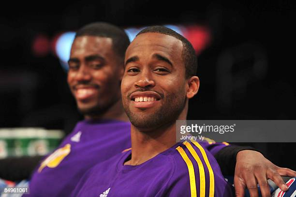 Brandon Heath and Joe Crawford of the Los Angeles DFenders smile before taking on the Rio Grande Valley Vipers at Staples Center on February 20 2009...