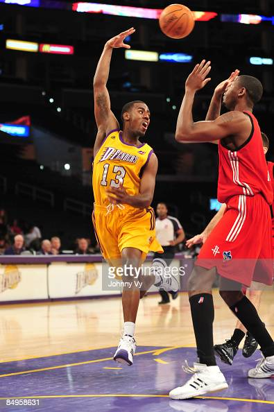 Brandon Heath of the Los Angeles DFenders makes a pass during a game against the Rio Grande Valley Vipers at Staples Center on February 20 2009 in...