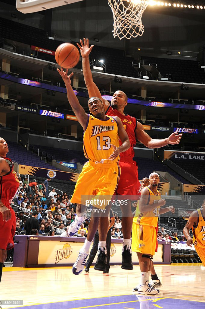 Brandon Heath of the Los Angeles DFenders puts up a shot during the game against the Tulsa 66ers at Staples Center on December 7 2008 in Los Angeles...