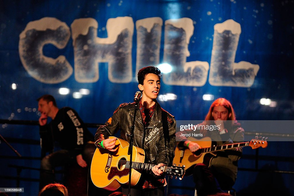 Brandon Hudson performs at the CHILL-OUT closing night concert at The Queen Mary on January 6, 2013 in Long Beach, California.