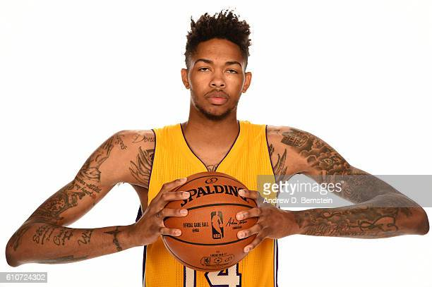 Brandon Ingram of the Los Angeles Lakers poses for a portrait during the 20162017 Los Angeles Lakers Media Day at Toyota Sports Center on September...