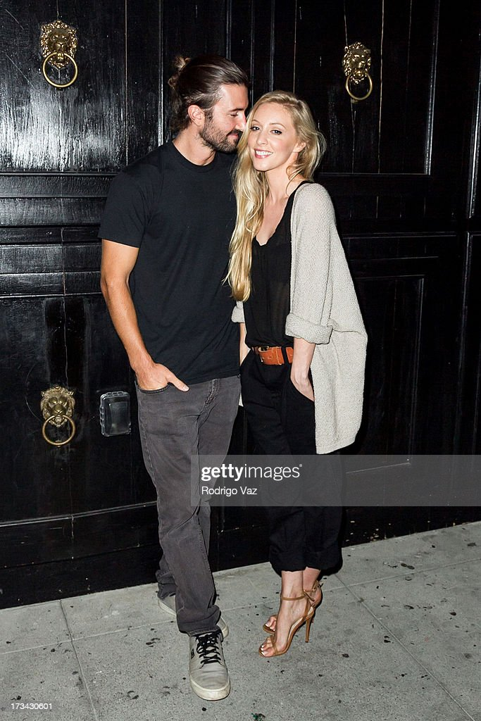 <a gi-track='captionPersonalityLinkClicked' href=/galleries/search?phrase=Brandon+Jenner&family=editorial&specificpeople=874130 ng-click='$event.stopPropagation()'>Brandon Jenner</a> (L) and <a gi-track='captionPersonalityLinkClicked' href=/galleries/search?phrase=Leah+Jenner&family=editorial&specificpeople=9897291 ng-click='$event.stopPropagation()'>Leah Jenner</a> of Brandon & Leah pose for protraits before performing at the Hotel Cafe on July 13, 2013 in Hollywood, California.