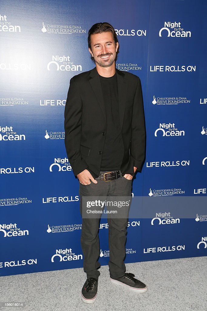 <a gi-track='captionPersonalityLinkClicked' href=/galleries/search?phrase=Brandon+Jenner&family=editorial&specificpeople=874130 ng-click='$event.stopPropagation()'>Brandon Jenner</a> arrives at the Life Rolls On foundation's 9th annual 'Night by the Ocean' gala at Ritz Carlton Hotel on November 10, 2012 in Marina del Rey, California.