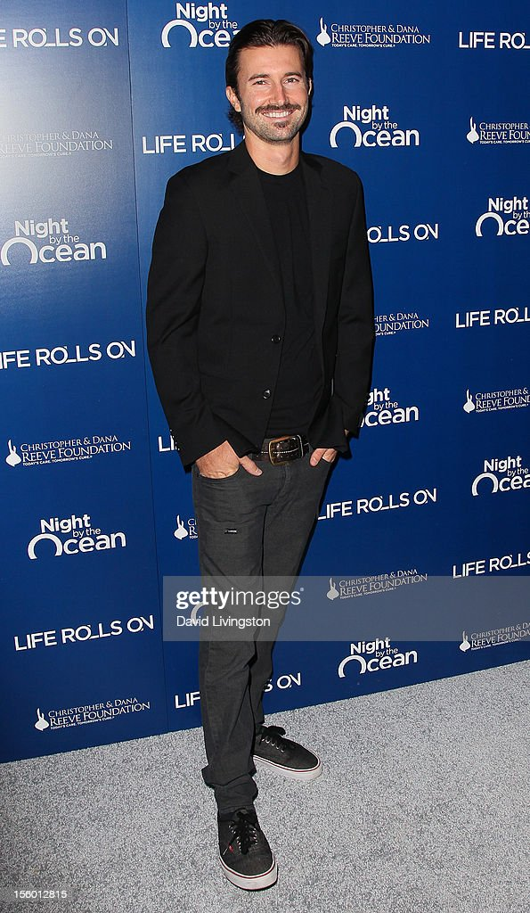 <a gi-track='captionPersonalityLinkClicked' href=/galleries/search?phrase=Brandon+Jenner&family=editorial&specificpeople=874130 ng-click='$event.stopPropagation()'>Brandon Jenner</a> attends The Life Rolls On Foundation's 9th Annual Night by the Ocean at the Ritz-Carlton Hotel on November 10, 2012 in Marina del Rey, California.