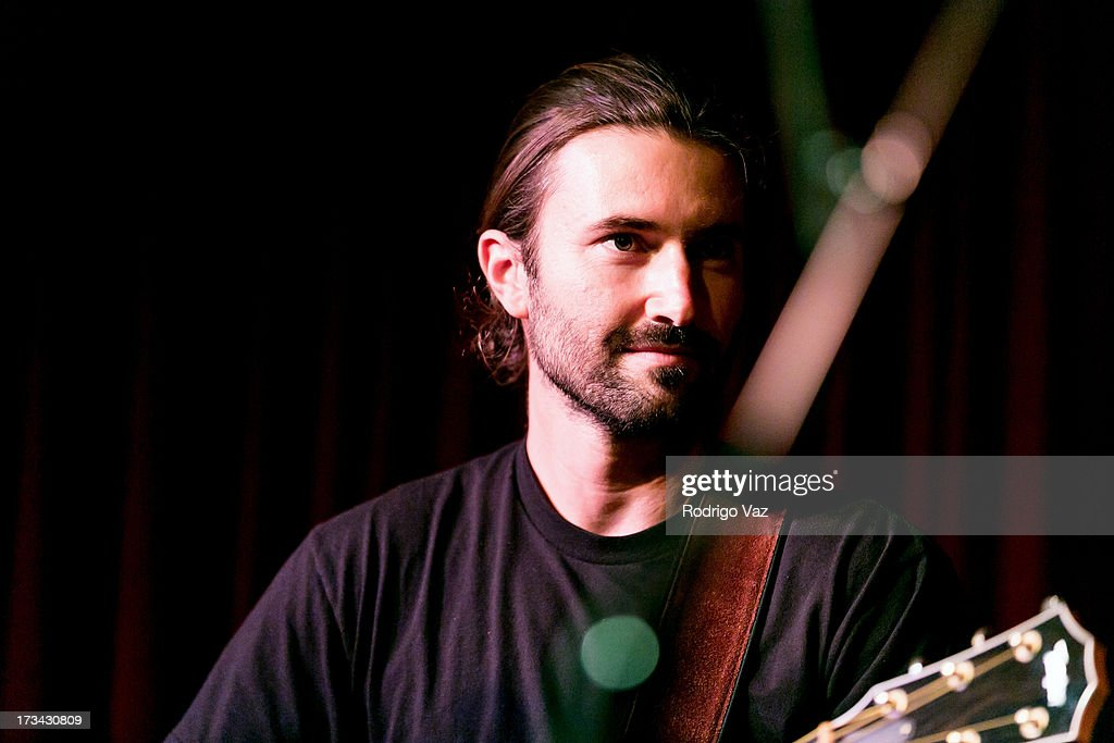 <a gi-track='captionPersonalityLinkClicked' href=/galleries/search?phrase=Brandon+Jenner&family=editorial&specificpeople=874130 ng-click='$event.stopPropagation()'>Brandon Jenner</a> of Brandon & Leah performs at The Hotel Cafe on July 13, 2013 in Hollywood, California.