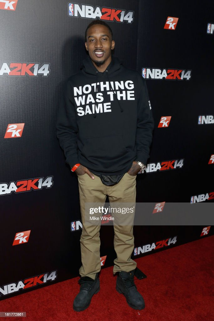 Brandon Jennings attends the NBA2K14 premiere party at Greystone Manor Supperclub on September 24, 2013 in West Hollywood, California.